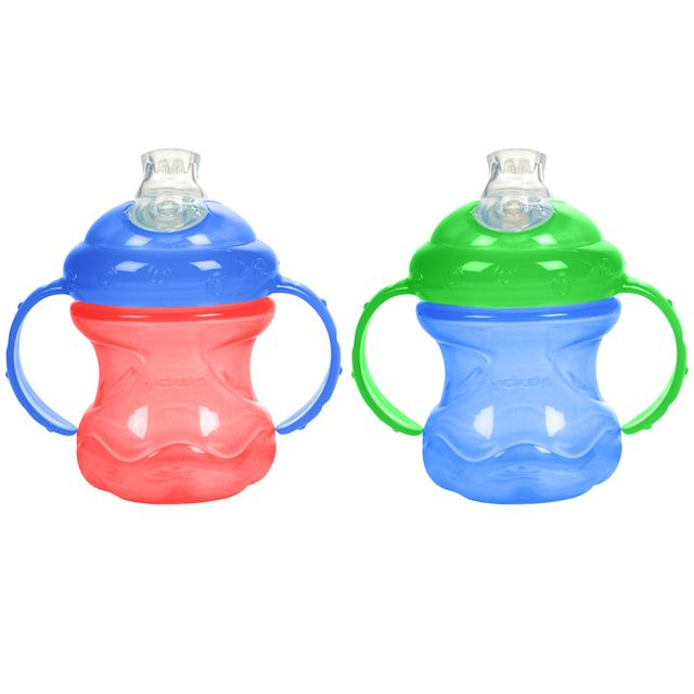 Nuby 8 oz No-Spill Cup with Super Spout - 2 Pack (Red/Blue)
