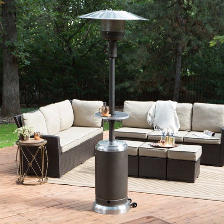 Coral Coast Mocha & Stainless Steel Commercial Patio Heater with Table ()