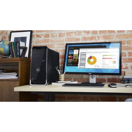Dell XPS 8700 Desktop Computer - Intel Core i5-4790 3.20 GHz - 16 GB RAM - Black A new desktop design with tiles you can swap out and arrange so that the information you need to see most is always front and center. Stay up to date with social media, news, stocks and more that refresh even while your system is in sleep mode. Processor & Chipset Number of Processors Supported: 1 Number of Processors Installed: 1 Processor Manufacturer: Intel Processor Type: Core i5 Processor Model: i5-4460 Processor Core: Quad-core (4 Core) Processor Speed: 3.20 GHz Maximum Turbo Speed: 3.4 GHz Cache: 6 MB Direct Media Interface: 5 GT/s 64-bit Processing: Yes Hyper-Threading: No vPro Technology: No Chipset Manufacturer: Intel Chipset Model: Z87 Express Memory Standard Memory: 12 GB Maximum Memory: 16 GB Memory Technology: DDR3 SDRAM Memory Standard: DDR3-1600/PC3-12800 Memory Form Factor: DIMM Number of Total Memory Slots: 4 Memory Card Reader: Yes Memory Card Supported: CompactFlash (CF). Memory Stick PRO, Memory Stick PRO Duo, miniSD, MMCmobile, MMCplus, MultiMediaCard (MMC), Reduced Size MultiMediaCard (RS-MMC), Secure Digital High Capacity (SDHC), SmartMedia, Memory Stick, Memory Stick Duo, Memory Stick PRO-HG, Microdrive, Secure Digital (SD), xD-Picture Card Storage Total Hard Drive Capacity: 1 TB Hard Drive Interface: Serial ATA/600 Hard Drive RPM: 7200 Optical Drive Type: DVD-Writer Optical Media Supported: DVD+/- R/+/-RW Controllers Controller Type: Serial ATA Display & Graphics Graphics.