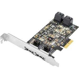 PCIE SC-SA0R11-S1 DP SATA 6GB/S 4PRT HYBRID HIGH PERF RAID HST CTRL