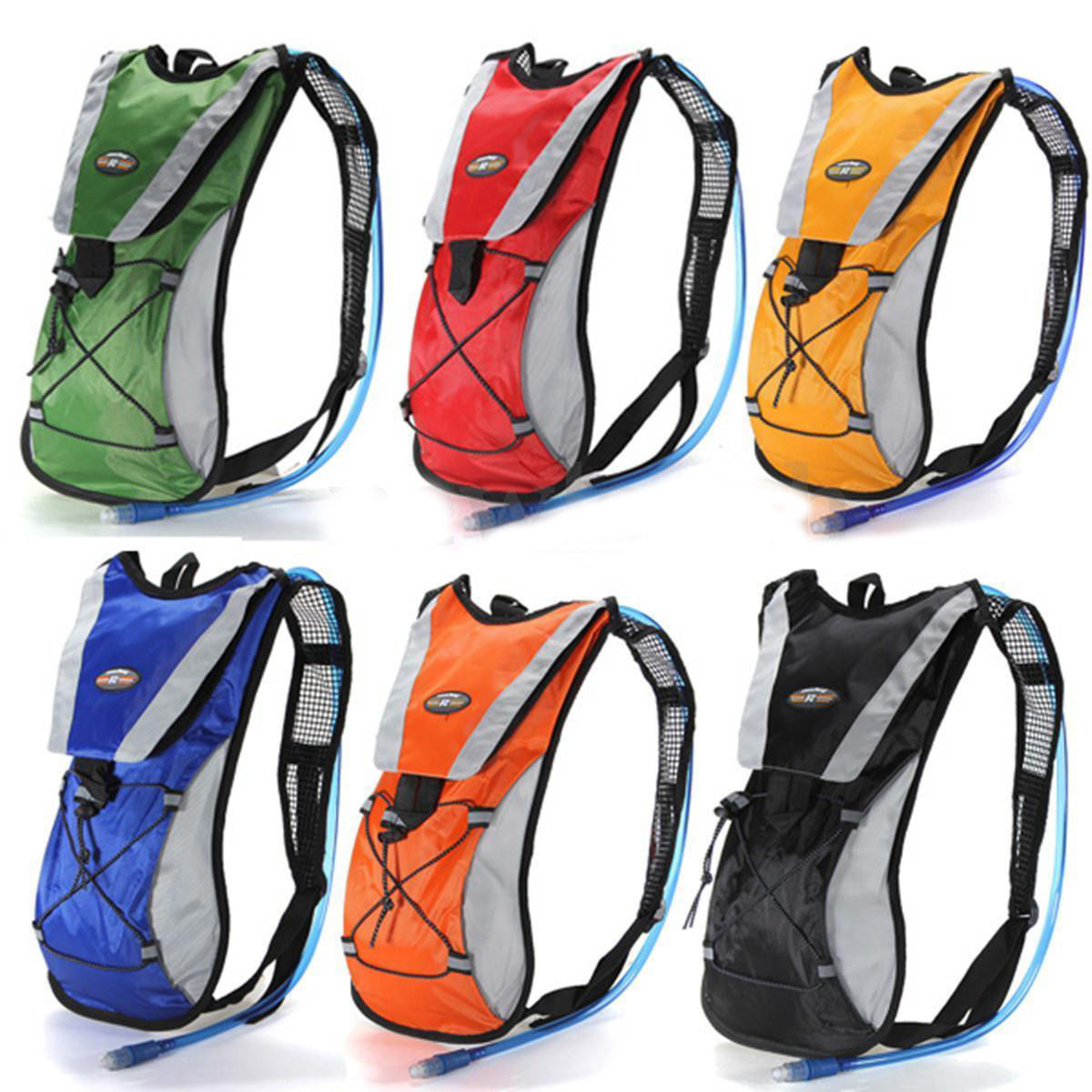Hydration Pack   Water Backpack with 2L Water Bladder Perfect For Running Cycling Hiking Climbing Pouch-Black color by