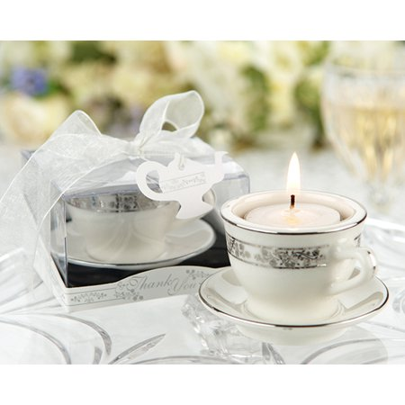 Teacups and Tealights Miniature Porcelain Tealight Holders Set of 12