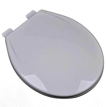 Plumbing Technologies 2F1R6-80 Slow Close Plastic Round Front Contemporary Design Toilet Seat, Silver & Gray ()