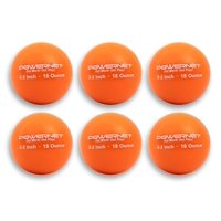 """PowerNet 3.2"""" Weighted Hitting and Batting Training Ball (6 pack) 12 Oz - Yellow"""