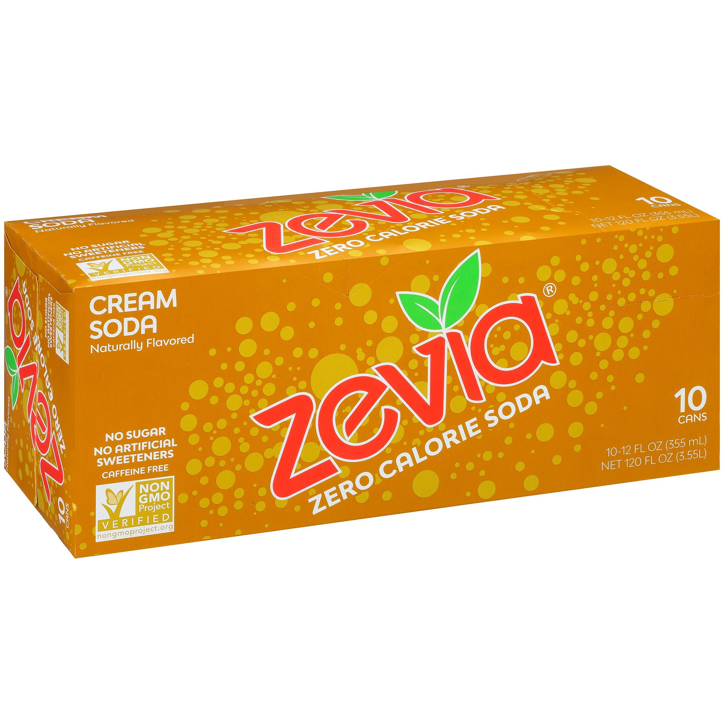 Zevia® Zero Calorie Cream Soda 10-12 fl. oz. Cans