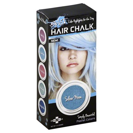 DeveloPlus Splat Simply Beautiful Hair Chalk, 3.5 g (Sliver Hair)
