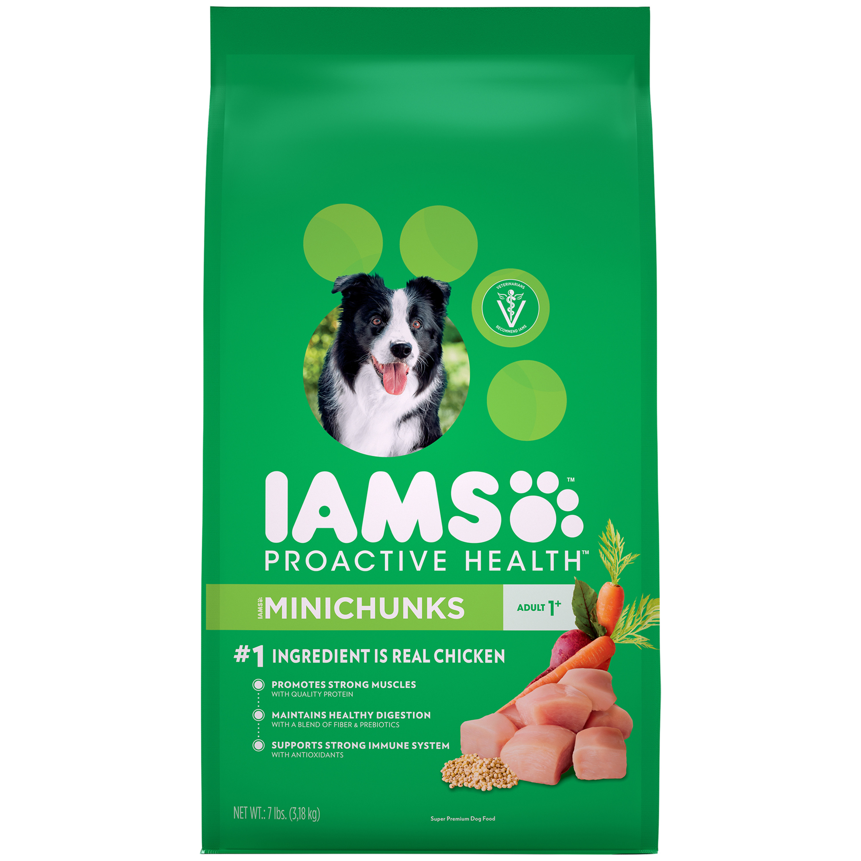 Iams Proactive Health Minichunks Dry Dog Food, Chicken, 7 Lb
