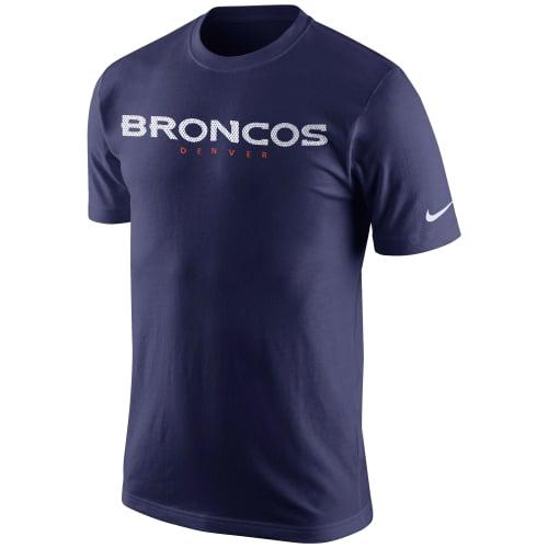 Denver Broncos Nike Wordmark T-Shirt - Navy Blue