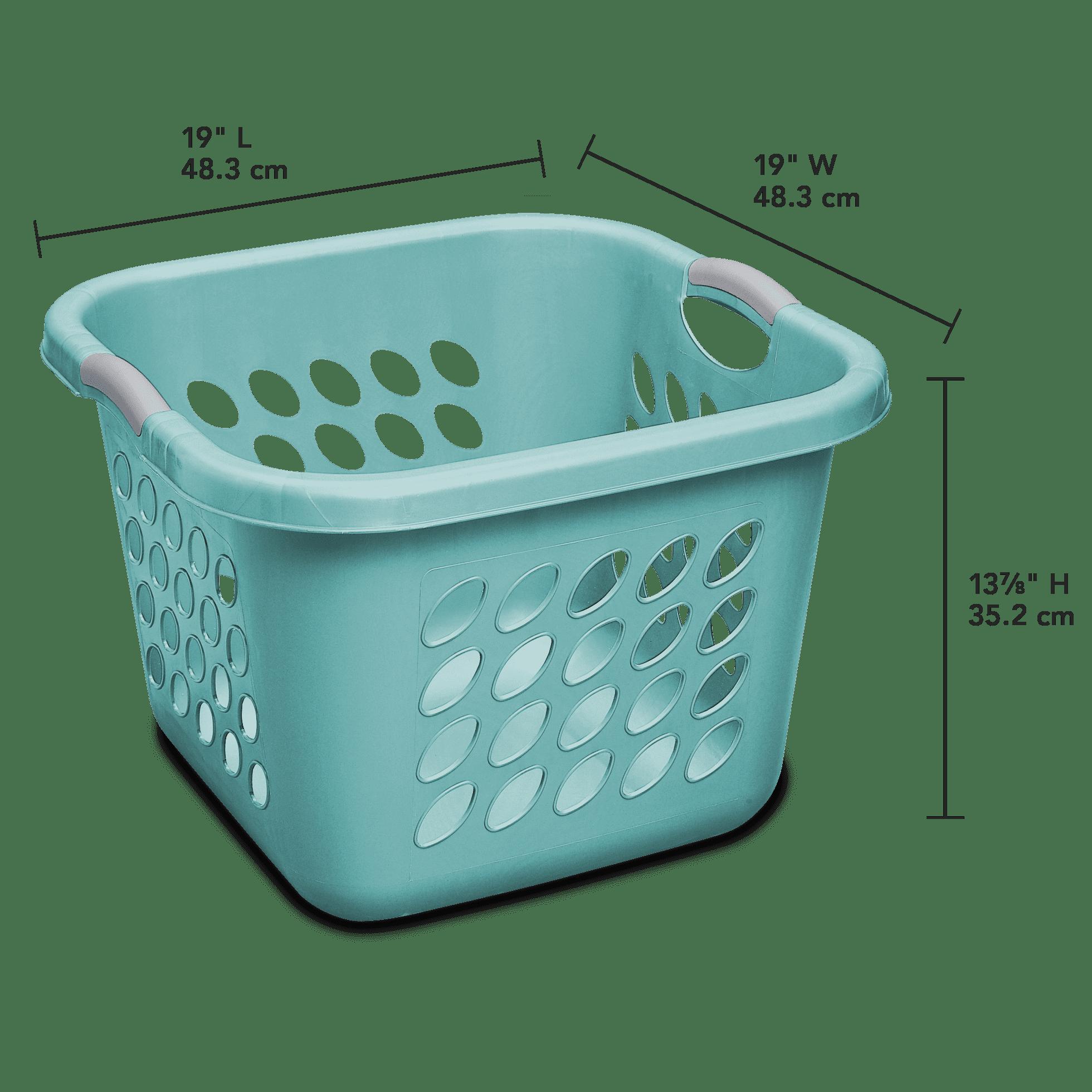 Sterilite 1.5 Bushel/53 L Ultra™ Square Laundry Basket, Teal Splash ...