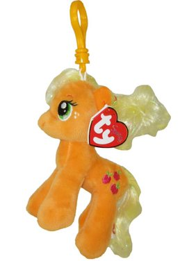 Product Image TY Beanie Baby - APPLEJACK with Glitter Hairs (My Little Pony)  (Plastic Key 5b48a58b4db2