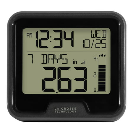 Electronic Rain Gauge - Lacrosse Digital Rain Gauge w/ Indoor Temperature