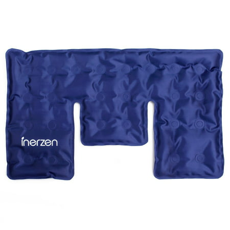 Inerzen Neck and Shoulder Hot and Cold Gel Pad Therapy Wrap for Pain, Muscle, Stress Relief - Microwavable & Freezable Therapeutic Hot Cold Neck Wrap