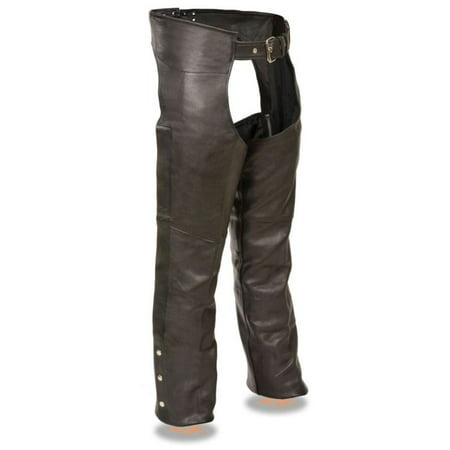 Milwaukee Mens Fully Lined Naked Cowhide Chaps Black