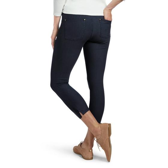 25071b9e52deed Hue - HUE Women's Ankle Slit Essential Denim Capri Deep Indigo X ...