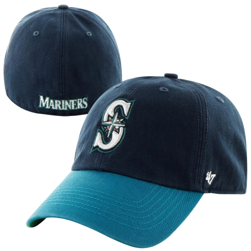 Seattle Mariners '47 Brand Franchise Fitted Hat - Navy Blue/Teal