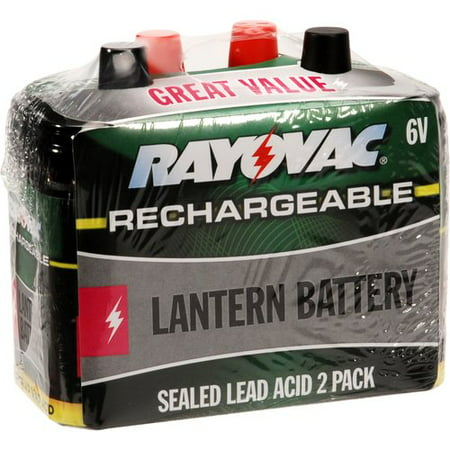 Rayovac 6v Rechargeable Battery 2pk