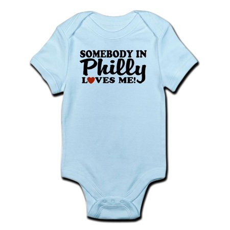 CafePress - Somebody In Philly Loves Me Infant Creeper - Baby Light (Size 28 Onesie)