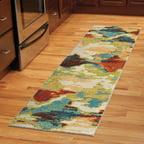Orian Rugs Watercolor Scroll Multi Colored Area Rug Or