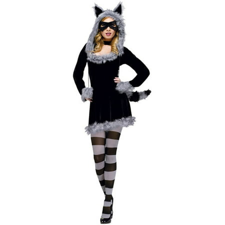Racy Raccoon Adult Halloween Costume for $<!---->