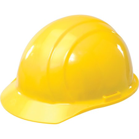 ERB Americana Hard Hat, 4-Point Pinlock Suspension, Yellow, 19762, Lot of 1