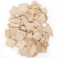 Creativity Street Wooden Shapes, 1,000 Pieces