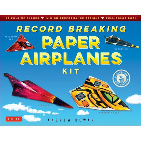 Kite Paper (Record Breaking Paper Airplanes Kit : Make Paper Planes Based on the Fastest, Longest-Flying Planes in the World!: Kit with Book, 16 Designs & 48 Fold-up)