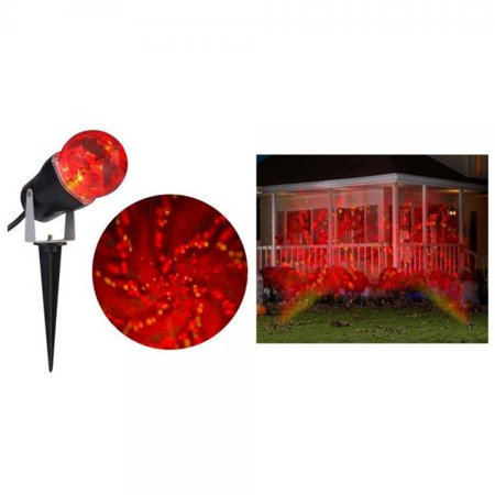 Halloween LED Time Tunnel RED YELLOW projection Stake Light - Halloween Screen Projection