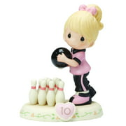 Precious Moments Growing in Grace Age 10 Blonde - Girl Bowling Figurine #154037