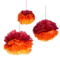 Fiesta Tissue Pom Poms Southwestern Party Supplies Decorations