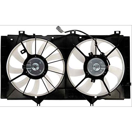 Dual Radiator and Condenser Fan Assembly - Cooling Direct For/Fit TO3115163 10-10 Toyota Camry 4cy MANUAL Transmission '11 Camry 2.5L 09-16 Venza 2.7L WITH Tow (Ls3 Crate Engine And Manual Transmission Package)