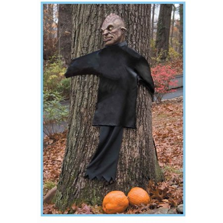 Forum Peeping Tree Hugger Halloween Outdoor Prop, Black Brown (Halloween Forum Props)