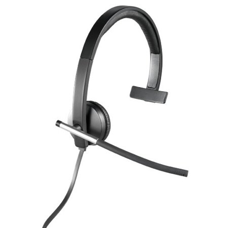 Logitech USB Headset Mono H650e (Business Product), Corded Single-Ear Headset