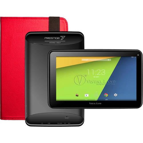 "Visual Land Prestige 7"" Tablet 8GB Memory with Bonus Case"