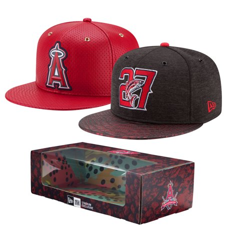 Los Angeles Angels New Era Mike Trout 2-Time MVP Adjustable Hat Box Set - Red - OSFA
