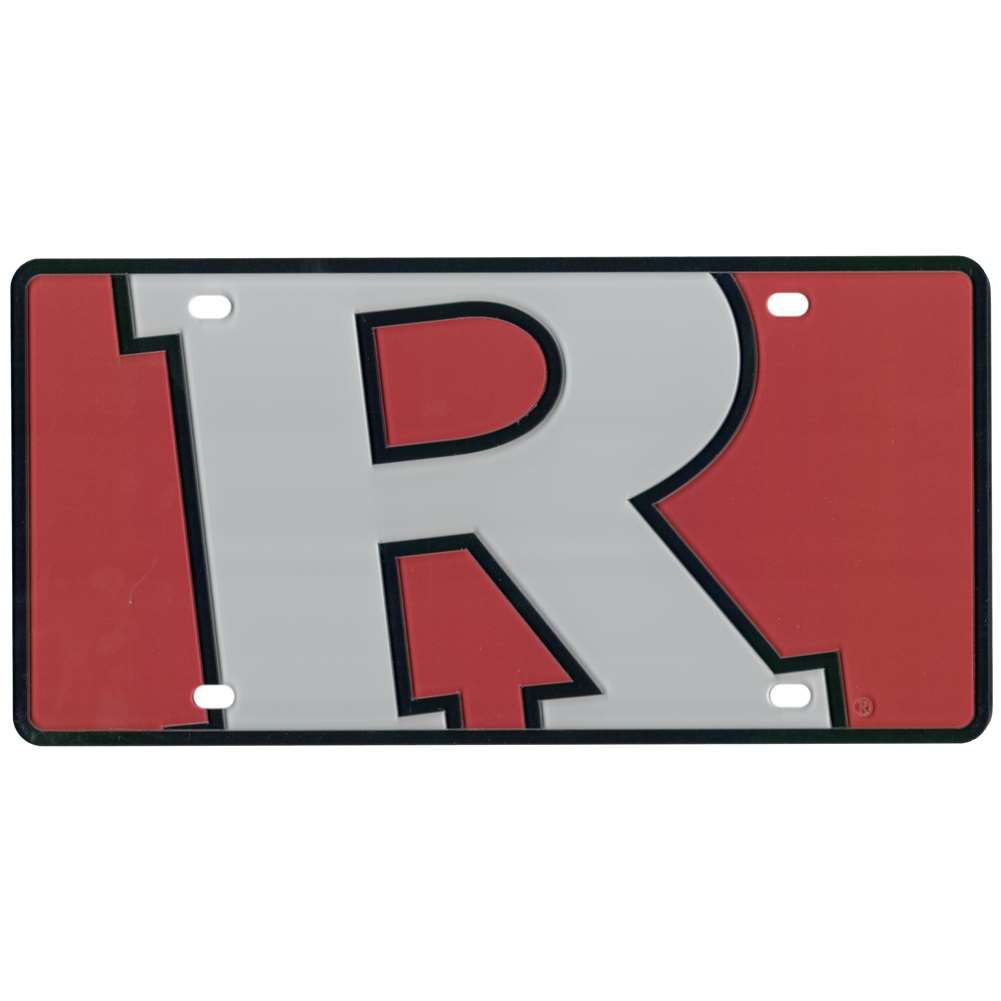 Rutgers Scarlet Knights Full Color Mega Inlay License Plate