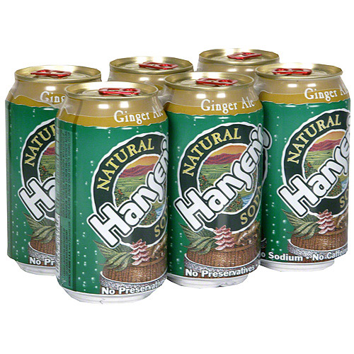Hansen's Natural Ginger Ale Soda, 12 oz (Pack of 4)