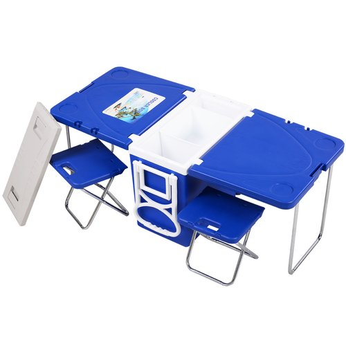 Costway 28 Can Rolling Picnic Camping Cooler