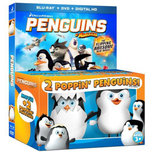Penguins Of Madagascar (Blu-ray + DVD + Digital HD + 2 Poppin' Penguins) (With INSTAWATCH)