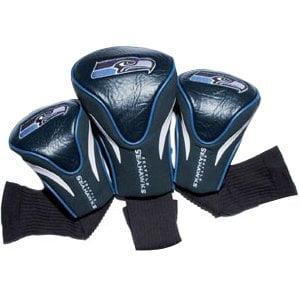 Seattle Seahawks 3-Pack Contour Golf Club Head Covers - No Size (Seahawks Golf Club Covers)