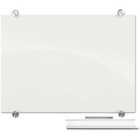 Best-Rite Visionary Magnetic Glass Board, Frameless, White ...