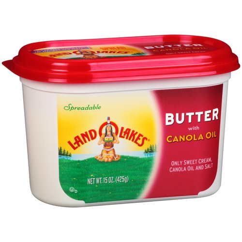 Land O Lakes Spreadable Butter with Canola Oil, 15 oz ...