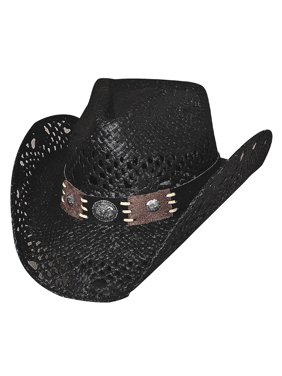 Bullhide Pure Country Straw w/ Leather Hatband and Conchos