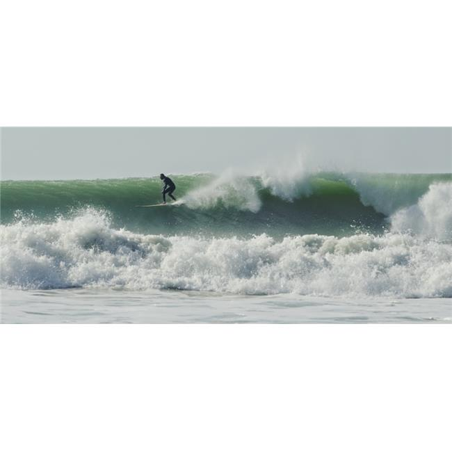 Surfer Up on A Wave Poster Print, 44 x 20 - image 1 of 1