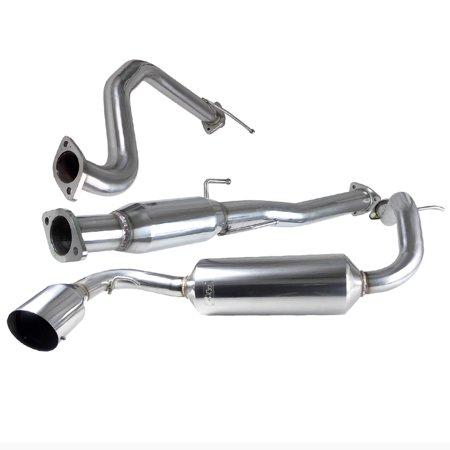 (Modifystreet Racing Catback Exhaust System for 88-91 Honda CRX 1.5L/1.6L D15/D16 SOHC)