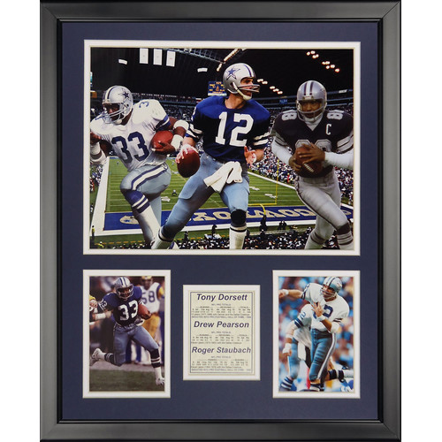 Legends Never Die NFL Dallas Cowboys - 1970s Big 3 Framed Memorabili