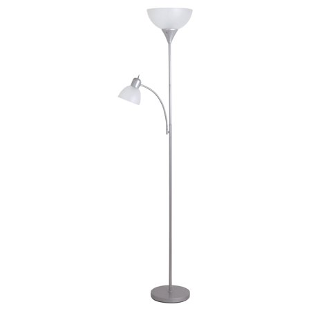 Catalina Lighting Silver Mother And Daughter Torchiere Floor Lamp
