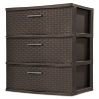 Sterilite 3-Drawer Wide Weave Tower (Espresso)