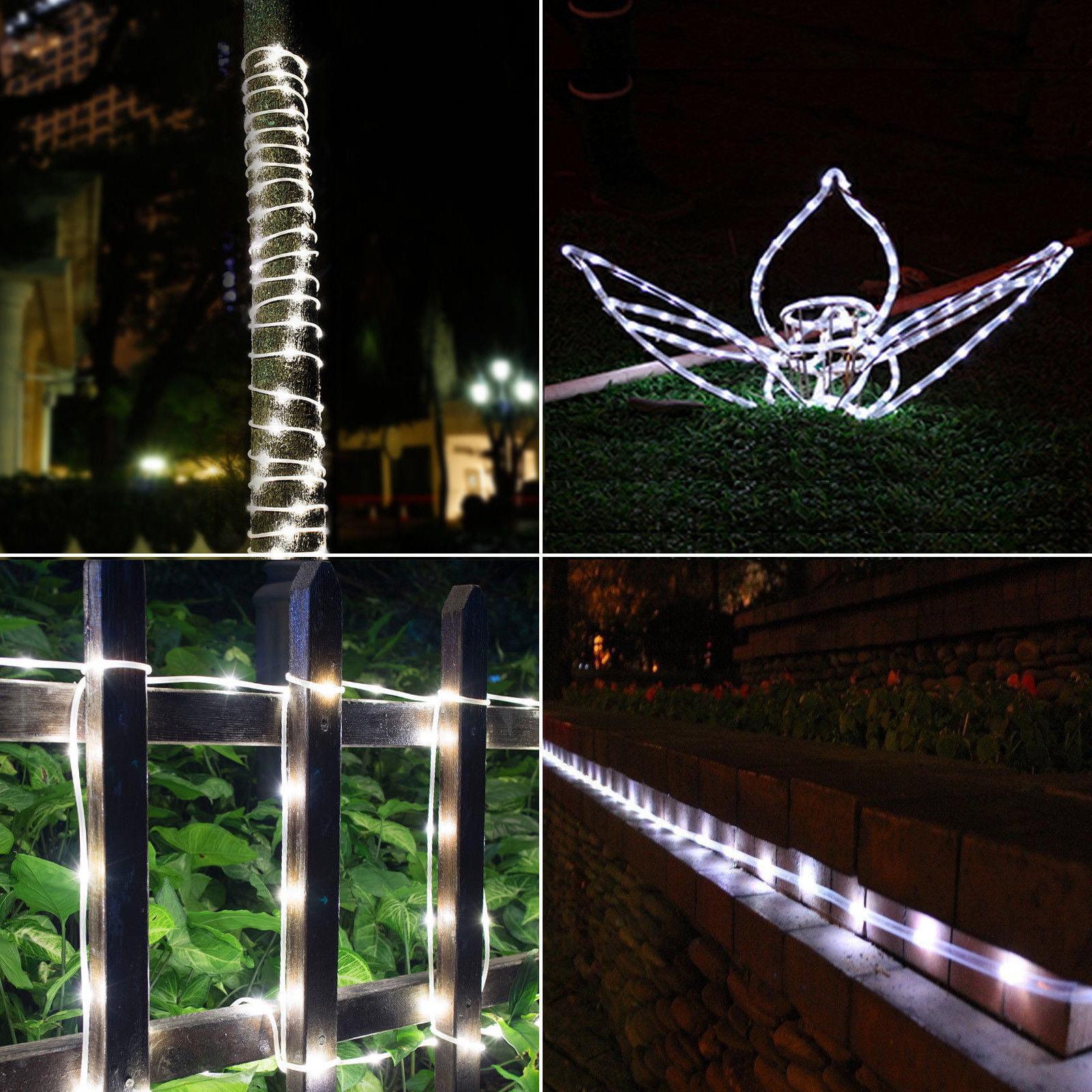 39FT 100LEDS Solar Rope Tube Fairy Lights LED String  Outdoor Garden Waterproof