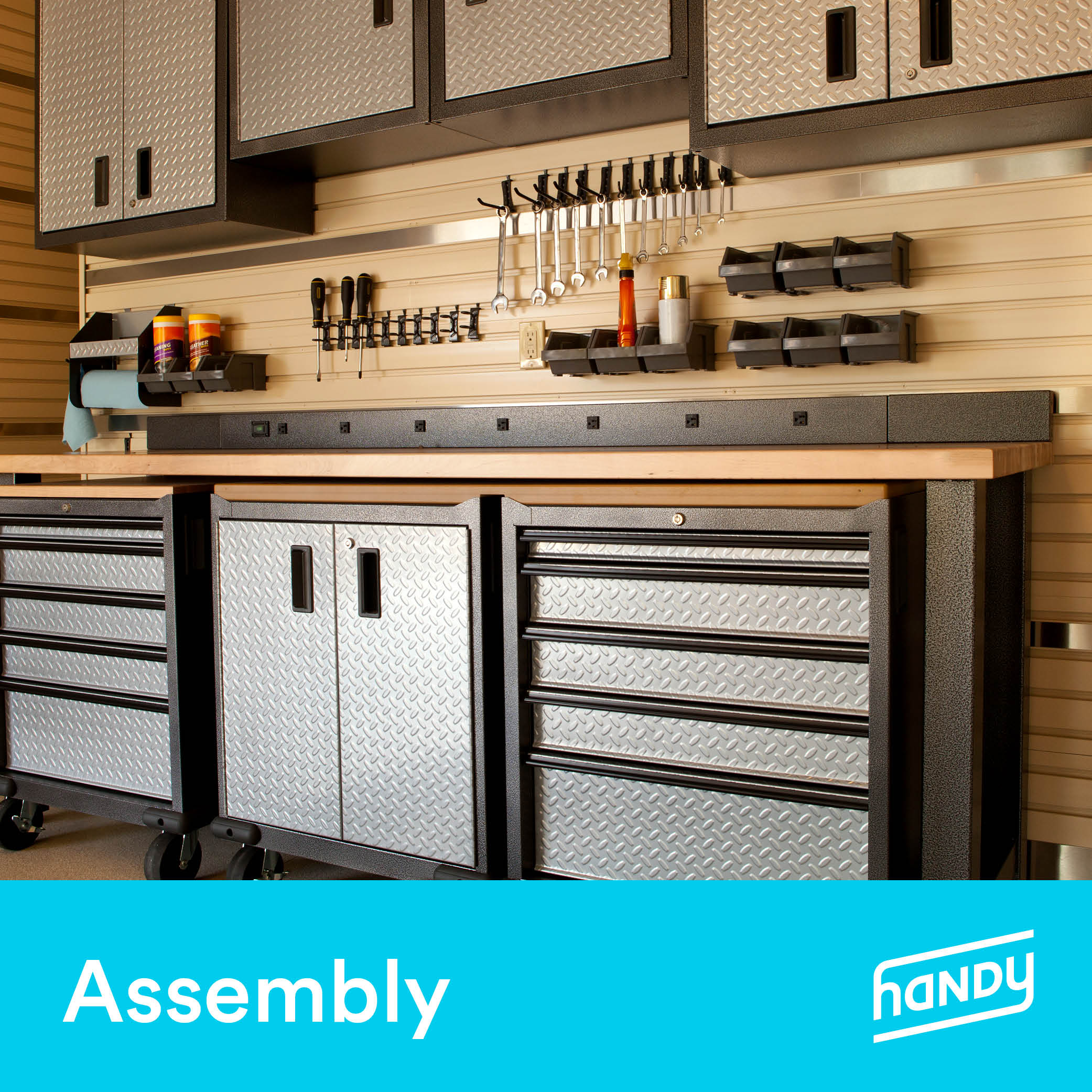 Garage Cabinets and Storage Systems Assembly by Handy