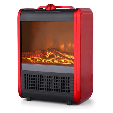 Pro Fusion Heat 600/1200W Ceramic Mini Fireplace Heater